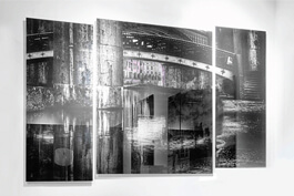 Glass panels with printed photography
