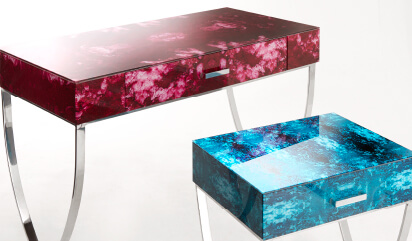 Glass sidetables